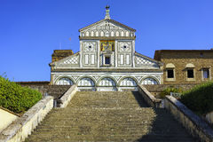 BasilikaSan Miniato al Monte i Florence eller Firenze, kyrka in Royaltyfri Foto