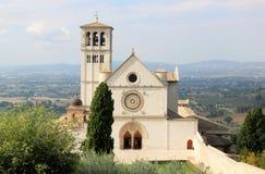 Basilikasuperiore di San Francesco, Assisi royaltyfria foton
