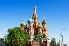 Basilikum `s Kathedrale Lieblingsplatz für Touristen in Moskau, Rus Stockfotografie