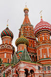 -Basilikumkathedrale auf rotem Quadrat in Moskau Stockfotografie