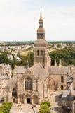 Basilique圣索弗尔在Dinan,法国 免版税库存图片
