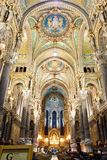 basilique κυρία de fourvi Λα notre σχετικά με Στοκ Εικόνες