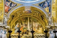 Basilique antique Santa Maria Maggiore Rome Italy de bougies de mosaïque photo stock
