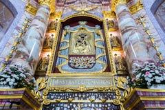 Basilique, architecture et intérieurs d'Aglona Photographie stock