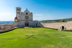 Basilique célèbre du St Francis d'Assisi Basilica Papale di San photographie stock