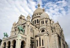 basilique coeur Γαλλία Παρίσι sacre Στοκ Εικόνες
