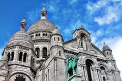 basilique Coeur De Du losu angeles montmartre sacr Fotografia Royalty Free
