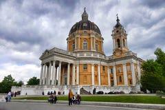 Basilique d'église baroque de Superga image libre de droits