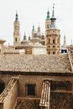 Basilique de cathédrale de notre Madame du pilier Saragosse Espagne image libre de droits