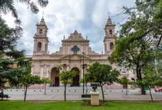Basilique de cathédrale de Salta - Salta, Argentine images stock