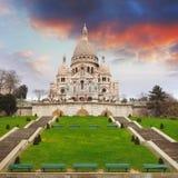 Basilique de coeur de Sacre de Montmartre à Paris, France Photo libre de droits