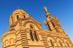 Basilique de Garde de La de Notre Dame de à Marseille images stock