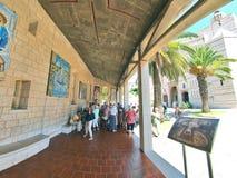 Basilique de l'annonce à Nazareth Photo libre de droits