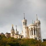 Basilique de Notre Dame de Fourviere à Lyon Photos stock