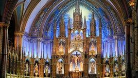 Basilique de Notre-Dame Montréal photo stock