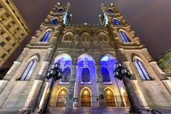 Basilique de Notre-Dame - Montréal, Canada photographie stock