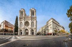 Basilique de notre Madame de l'hypothèse à Nice, Frances Images stock