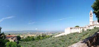 Basilique de rue Clare, Assisi, Italie Image stock