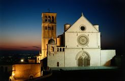 Basilique de rue Francis d'Assisi Photos stock