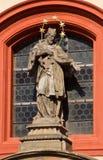 Basilique de rue George Prague, République Tchèque Images libres de droits