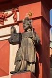 Basilique de rue George Prague, République Tchèque Image stock