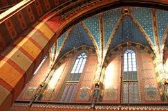 Basilique de rue Mary, Cracovie, Photos stock