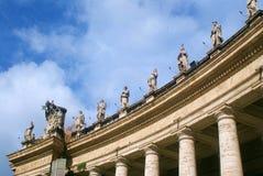 Basilique de rue Peter à Vatican Photo stock