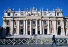 Basilique de rue Peter à Vatican Photographie stock libre de droits