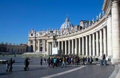 Basilique de rue Peter à Vatican Images stock