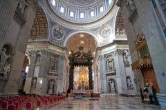 Basilique de rue Peter à Vatican Photographie stock