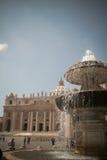Basilique de rue Peter, Vatican Image libre de droits