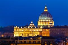 Basilique de rue Peter, Vatican. photographie stock