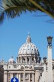 Basilique de rue Peter, Vatican Image stock