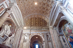 Basilique de rue Peters à Rome Photo stock