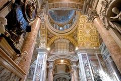 Basilique de rue Peters à Rome Images libres de droits