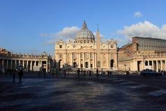 Basilique de rue Peters de Vatican image libre de droits