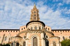 Basilique de rue Sernin à Toulouse Image libre de droits