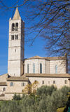 Basilique de saint Clare à Assisi, Italie photos libres de droits