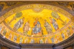 Basilique de Saint Paul en dehors des murs à Rome, Italie image stock