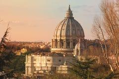 Basilique de saint Peter, Rome l'Italie images libres de droits