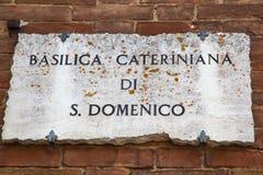 Basilique de San Domenico à Sienne Photos libres de droits