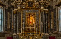 Basilique de San Domenico - chapelle de chapelet à Bologna Photographie stock libre de droits