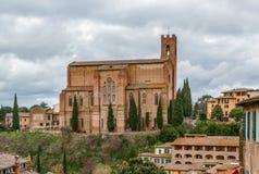 Basilique de San Domenico , Sienne, Italie Image libre de droits