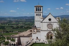 Basilique de San Francesco Assisi Photographie stock