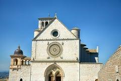 Basilique de San Francesco dans Assisi Photographie stock libre de droits