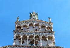 Basilique de San Michele in foro à Lucques l'Italie photos libres de droits