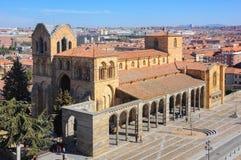 Basilique de San Vicente de Avila, Espagne images libres de droits