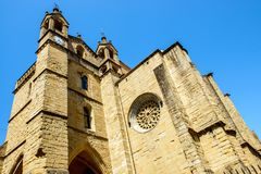 Basilique de Santa Maria del Coro dans San Sebastian, Espagne photos stock
