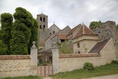 Basilique de St Mary Magdalene en la abadía de Vezelay Borgoña, Francia Fotografía de archivo