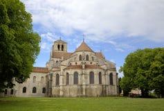 Basilique de St Mary Magdalene en la abadía de Vezelay Borgoña, Francia Imágenes de archivo libres de regalías